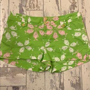 Lilly Pulitzer fish print shorts , size 6